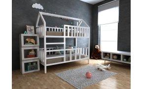 Двухъярусная кровать домик Молли ТМ MegaOpt