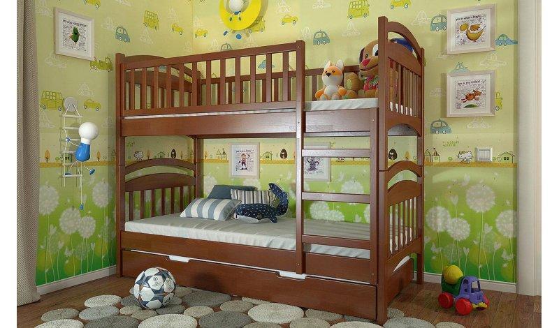 Двухъярусная кровать Смайл Arbor Drev