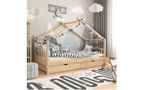 Кровать детская деревянная с ящиками Лиза ТМ MegaOpt